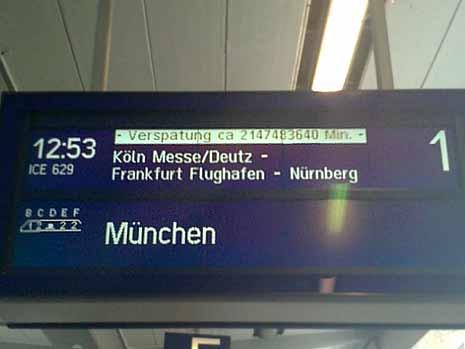 4000 Jahre zu spät: dieser Zug nach München!
