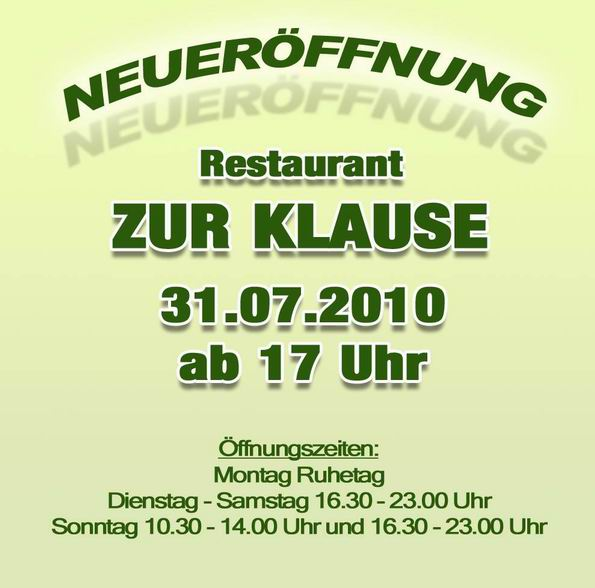 Restaurant: Zur Klause