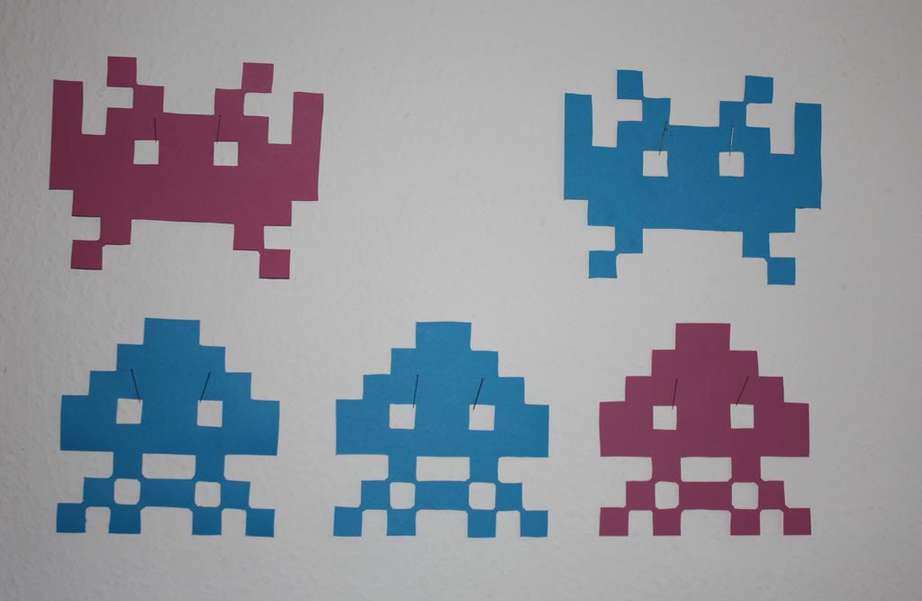 Spaceinvader-Wandschmuck